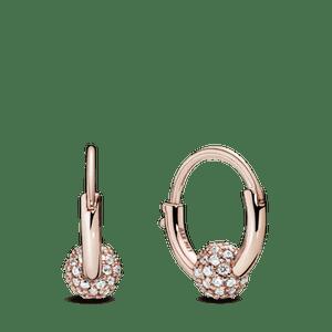 Brinco Argola Pandora Rose™ Esfera Brilhante