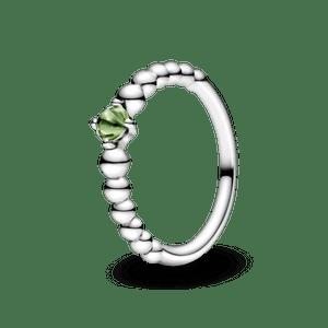 Anel Esferas Verde Claro - Mês De Agosto