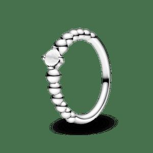 Anel Esferas Branco - Mês De Abril