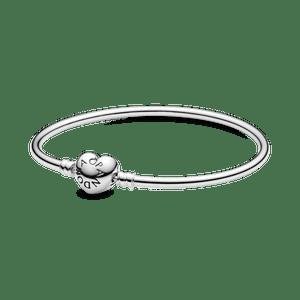Bracelete Pandora Rígido - Fecho Coração