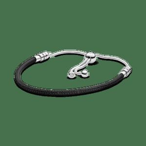 Bracelete Pandora Cordão De Couro Preto