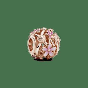 Charm Vazado Pandora Rose™ Margaridas Pink