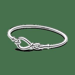 Bracelete Rigido Fecho Infinito Assimétrico