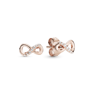 Brinco Pandora Rose™ Infinito Brilhante