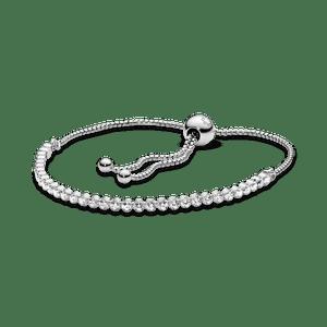 Bracelete Pandora Cordão Brilhante