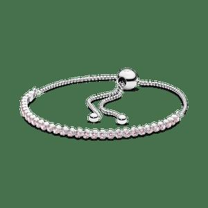 Bracelete Pandora Cordão Brilhante Rosa