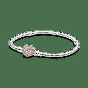 """Bracelete Crie & Combine - Fecho Rosetm """"sempre Em Meu Coração"""""""