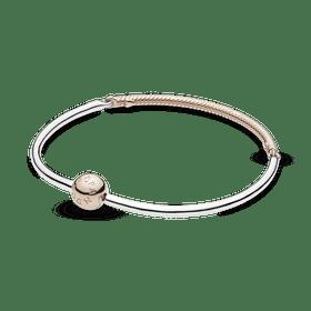 Bracelete Triplo Rígido Pandora Rose