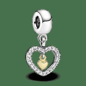 Charm Para Sempre Amor Com Ouro 14k