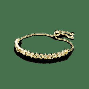Ed; Limitada Bracelete Pandora Cordão Shine Abelha Reluzente