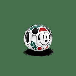 Charm Retrato Do Mickey Papai Noel