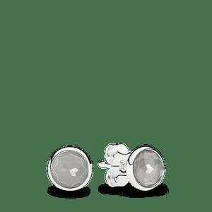 Brinco Gota De Pedra Da Lua Cinza - Junho