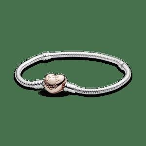 Bracelete Pandora Rose Fecho De Coração
