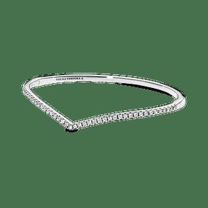 Bracelete Rígido Chevron Brilhante