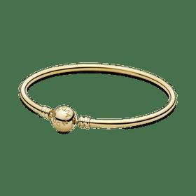 Bracelete Pandora Rígido De Ouro