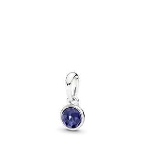 Charm Pendente Gota De Safira Sintética - Setembro