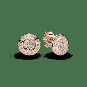 Brinco Rosê Brilho Pandora