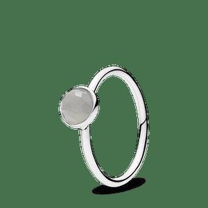 Anel Gota De Pedra Da Lua Cinza - Junho
