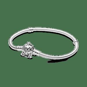 Bracelete Pandora Moments Disney Com Fecho Carruagem Cinderela