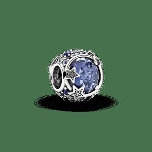 Charm De Estrelas Brilhantes Em Tom Azul - Celestial