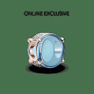 Charm Oval Em Cabochão Azul Pandora Rose™