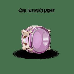 Charm Oval Em Cabochão Rosa Pandora Rose™