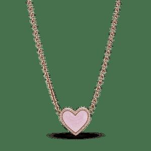 Colar Coração Rosa Espiral Pandora Rose™