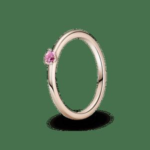 Anel Solitário Rosa Pandora Rose™