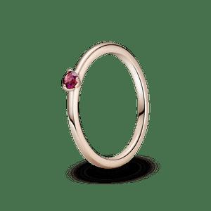 Anel Solitário Vermelho Pandora Rose™