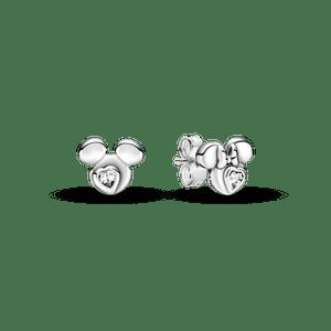 Brinco Petite Disney Silhueta Mickey & Minnie Mouse