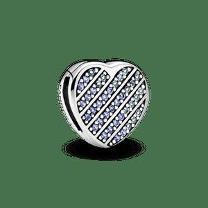 Clipe Pandora Reflexions Coração Em Pavé Azul