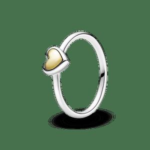 Anel De Coracao Ouro Em Cupula