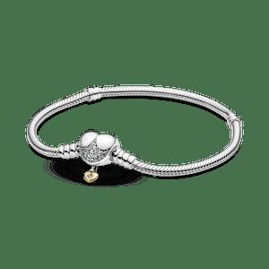 Bracelete Disney Com Fecho De Coracao Pandora Moments