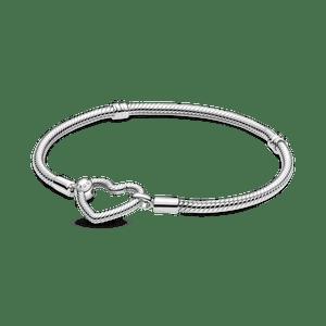 Bracelete Pandora Moments Com Fecho De Coracao