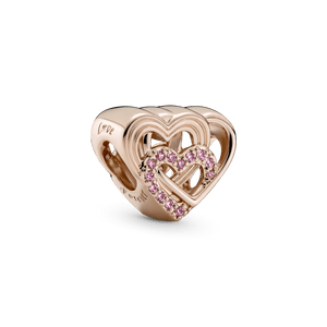 Charm Coracoes De Amor Entrelacados