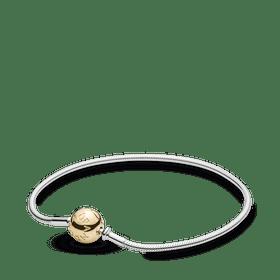 Bracelete Essence Collection De Prata De Lei Com Fecho De Ouro