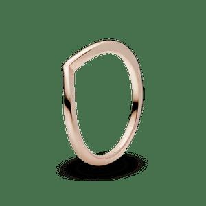 Anel Pandora Chevron Em Ouro Rose